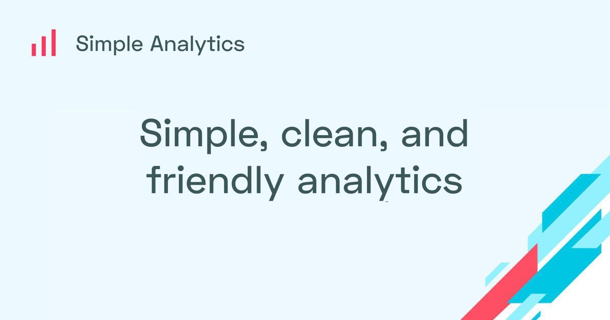 Simple Analytics - Simple, clean, and privacy-friendly analytics